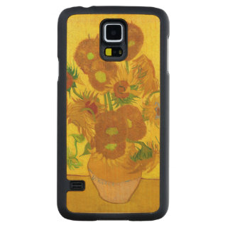 Van Gogh Fifteen Sunflowers In A Vase Fine Art Maple Galaxy S5 Case