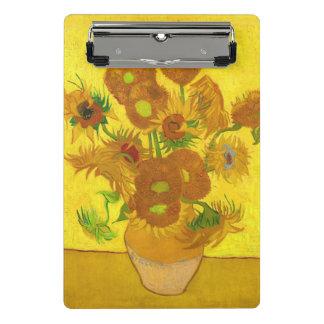 Van Gogh Fifteen Sunflowers In A Vase Fine Art Mini Clipboard