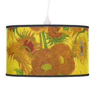 Van Gogh Fifteen Sunflowers In A Vase Fine Art Pendant Lamp