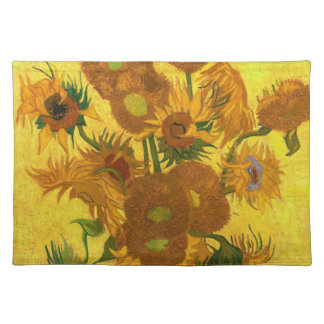 Van Gogh Fifteen Sunflowers In A Vase Fine Art Placemat