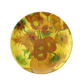 Van Gogh Fifteen Sunflowers In A Vase Fine Art Plate