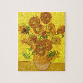Van Gogh Fifteen Sunflowers In A Vase Fine Art Puzzle