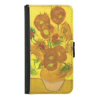 Van Gogh Fifteen Sunflowers In A Vase Fine Art Samsung Galaxy S5 Wallet Case