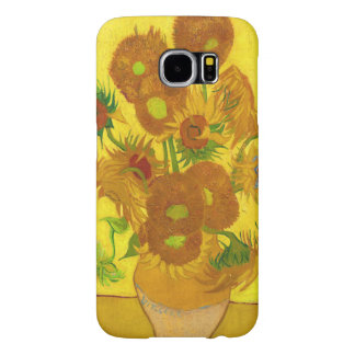 Van Gogh Fifteen Sunflowers In A Vase Fine Art Samsung Galaxy S6 Cases