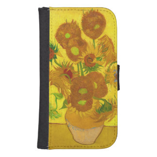 Van Gogh Fifteen Sunflowers In A Vase Fine Art Samsung S4 Wallet Case
