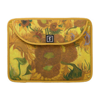 Van Gogh Fifteen Sunflowers In A Vase Fine Art Sleeve For MacBooks