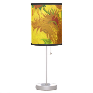 Van Gogh Fifteen Sunflowers In A Vase Fine Art Table Lamp