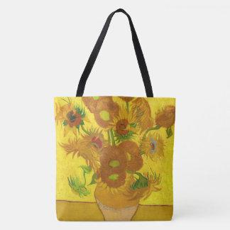 Van Gogh Fifteen Sunflowers In A Vase Fine Art Tote Bag