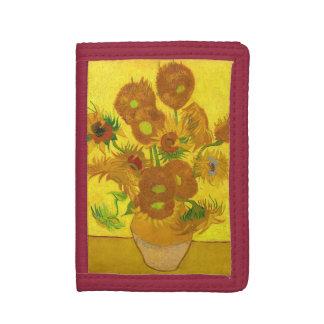Van Gogh Fifteen Sunflowers In A Vase Fine Art Tri-fold Wallets