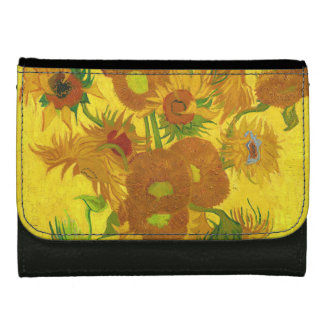 Van Gogh Fifteen Sunflowers In A Vase Fine Art Wallet