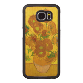 Van Gogh Fifteen Sunflowers In A Vase Fine Art Wood Phone Case