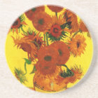 Van Gogh Fine Art, Vase with 15 Sunflowers Coaster
