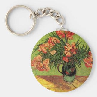 Van Gogh Fine Art, Vase with Oleanders and Books Keychain