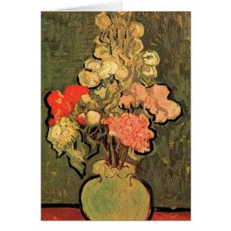 Van Gogh Fine Art, Vase with Rose Mallow Flowers Card