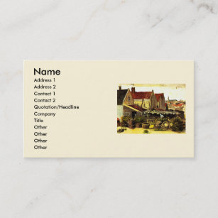 Fine arts business cards profile cards zazzle ca van gogh fish drying barn vintage fine art business card colourmoves