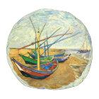 Van Gogh Fishing Boats on Beach at Saintes Maries Pouf