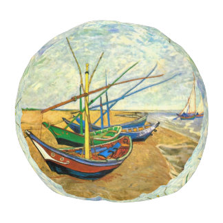 Van Gogh Fishing Boats on Beach at Saintes Maries Pouf