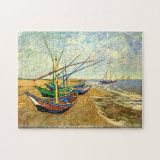 van Gogh - Fishing Boats on Saintes-Maries beach Jigsaw Puzzle