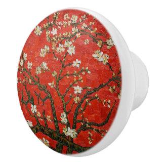 van gogh floral ceramic knob