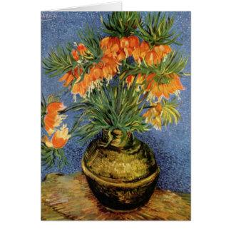 Van Gogh flower painting Greeting Cards