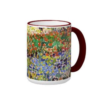 Van Gogh Flowering Garden At Arles Floral Fine Art Ringer Mug
