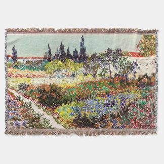 Van Gogh Flowering Garden At Arles Floral Fine Art Throw Blanket