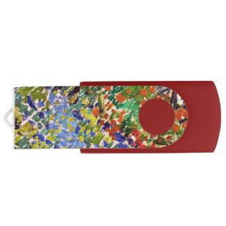 Van Gogh Flowering Garden At Arles Floral Fine Art USB Flash Drive
