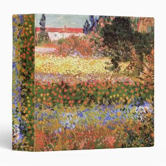 Van Gogh Flowering Garden, Vintage Floral Fine Art Binder