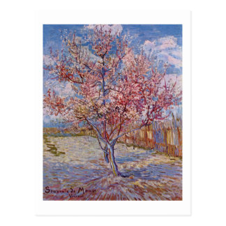 Van Gogh | Flowering Peach Tree | New Address Postcard