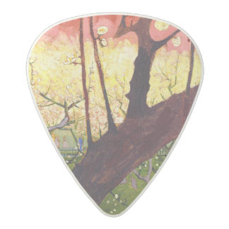 Van Gogh Flowering Plum Tree After Hiroshige Acetal Guitar Pick
