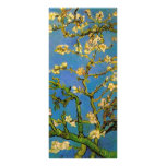Van Gogh Flowers Art, Blossoming Almond Tree Rack Card Design