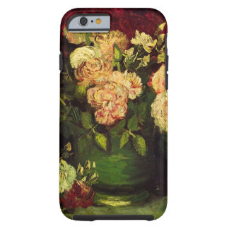 Van Gogh Flowers Art, Bowl with Peonies and Roses Tough iPhone 6 Case