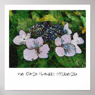Van Gogh Flowers: Hydrangea Poster