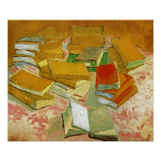Van Gogh French Novels Still Life (F358) Poster