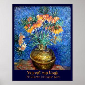 Van Gogh: Fritillaries In Copper Bowl Poster