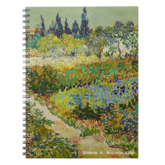 Van Gogh Garden at Arles Personalized Spiral Notebook