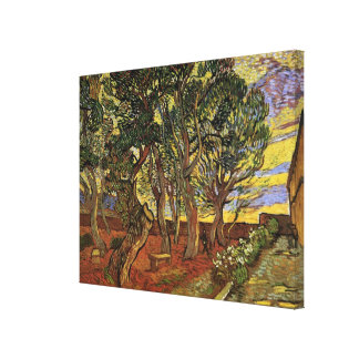 Van Gogh Garden of Saint Paul Hospital, Fine Art Canvas Print