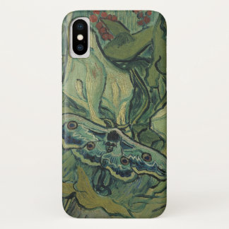 Van Gogh Green Peacock (Emperor) Moth, Fine Art iPhone X Case