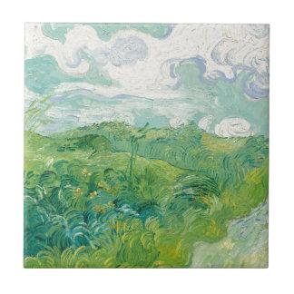 van Gogh Green Wheat Fields Tile