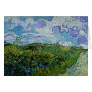 Van Gogh Green Wheat Fields, Vintage Fine Art Card