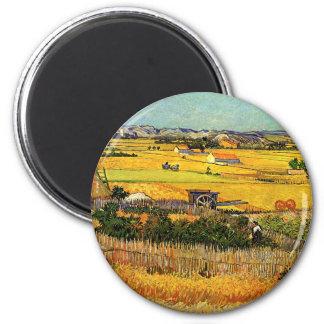 Van Gogh: Harvest at La Crau with Montmajour Magnet