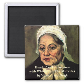 Van Gogh, Head of Old Woman, White Cap (Midwife) Magnet