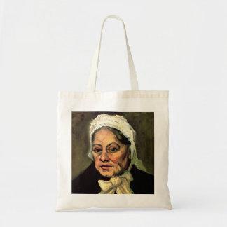 Van Gogh, Head of Old Woman, White Cap (Midwife) Tote Bag