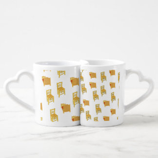 Van Gogh Illustration Lovers Mug Set