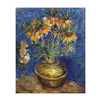 van Gogh Imperial Fritillaries in a Copper Vase Canvas Print