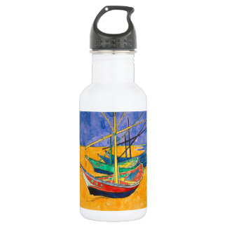Van Gogh Impressionist Boats 532 Ml Water Bottle