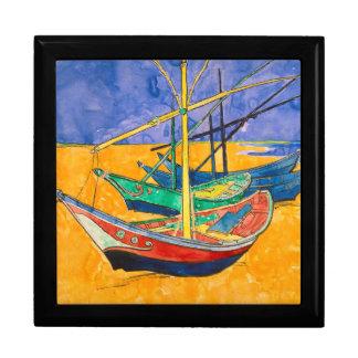 Van Gogh Impressionist Boats Gift Box