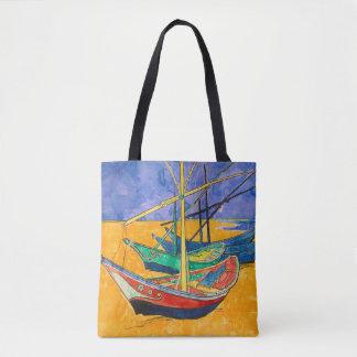 Van Gogh Impressionist Boats Tote Bag
