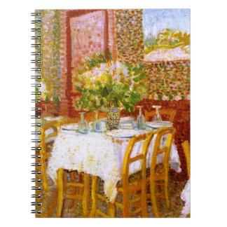 Van Gogh: Interior of a Restaurant Spiral Notebook