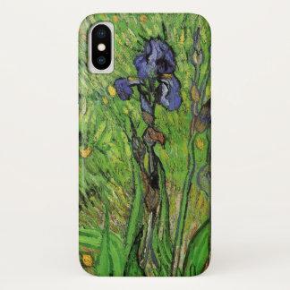 Van Gogh Iris, Vintage Garden Fine Art Flowers iPhone X Case